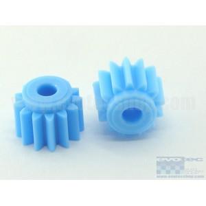 Piñon plastico 13 dientes diametro 7 mm (2 uds)