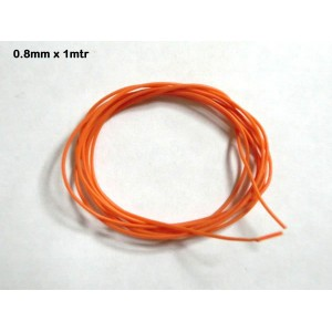 Cable silicona 0,8mm x 1 mtr.