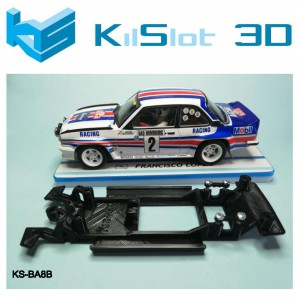 Chasis lineal black Opel Ascona 400 Revell