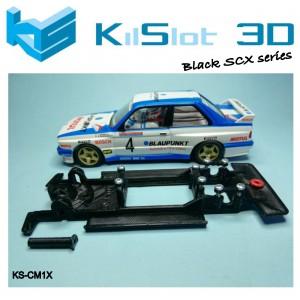 Chasis lineal black SCX BMW M3 E30 Altaya / SCX RX