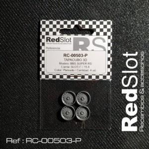 Tapacubos BBS SUPER RS p. Slot it 15,8 PLATA