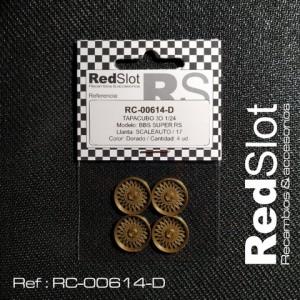 Tapacubos BBS SUPER RS p. SCALEAUTO 17 DORADO