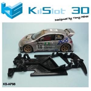 Chasis angular Race SOFT Peugeot 206 WRC SCX