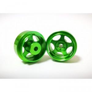Llanta R8 17,5x10mm aluminio verde 2 Unidades