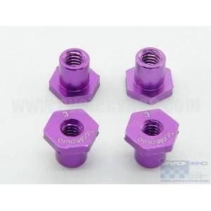 Casquillo aluminio basculacion H 3mm Lila