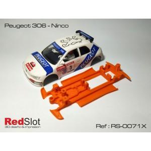 CHASIS 3D Peugeot 306 de Ninco Blando