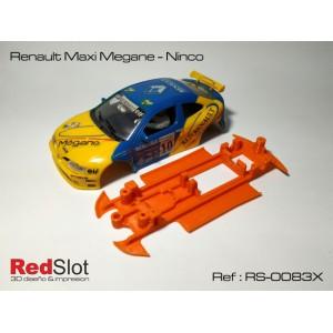 CHASIS 3D Renault Maxi Megane Ninco Blando