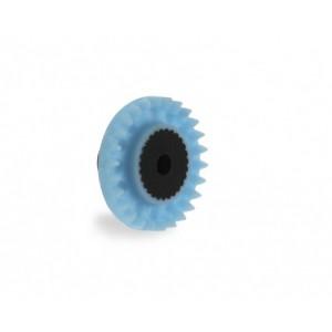 Corona 26 dientes Nylon Azul in line eje 3/32