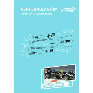 Calca Formula 1 NSR 1/32 John Player Special Negro