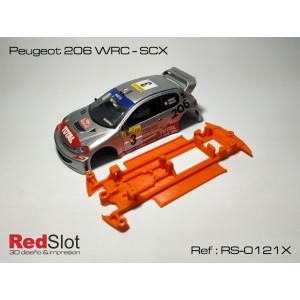 CHASIS 3D Peugeot 206 WRC - SCX Blando