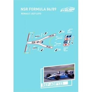 Calca Formula 1 NSR 1/32 Renault JS27 Loto