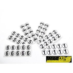 60 Dorsales adhesivos vinilo del 1 al 6