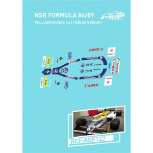 Calca Formula 1 NSR 1/32 Williams Honda Piquet