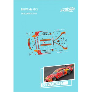 Calca 1/32 BMW M6 Sideways Thailandia 2017