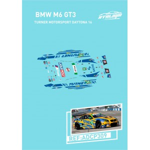 Calca 1/32 BMW M6 Sideways Turner Motorsport