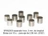 Separador inox. 3 mm. de longitud para eje 2,38 mm