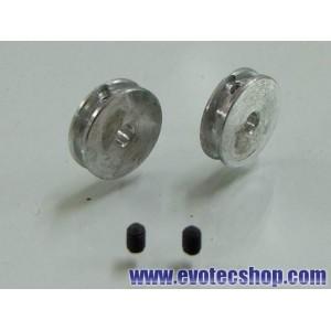 Poleas de Aluminio rectificadas por CNC (x 2)