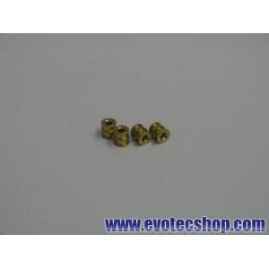 Cojinetes dobles de bronce (x 4)