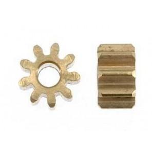 Piñon 9 dientes para eje motor de 2 mm 5,5 mm x2