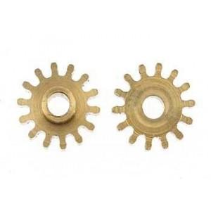 Piñon 14 dientes para eje motor de 2 mm 7,5 mm x2