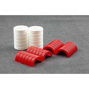 Neumaticos blanco/rojo 144 uds