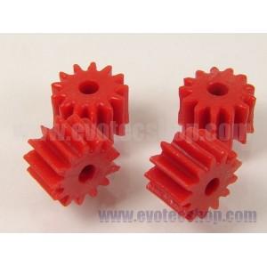 Piñones anglewinder 13 D 7,5 mm (x4) Rojos