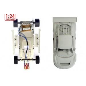 Audi R8 LMS GT3 White body Kit completo con chasis