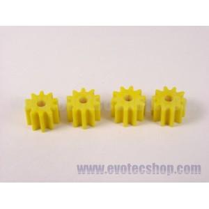 Piñones Sidewinder 10 D 6,75 mm (x4) Amarillos