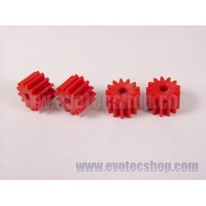 Piñones Sidewinder 13 D 6,75 mm (x4) Rojos