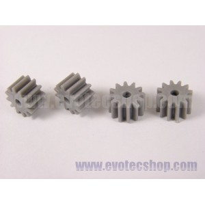 Piñones anglewinder 12 D 7,5 mm (x4) Grises