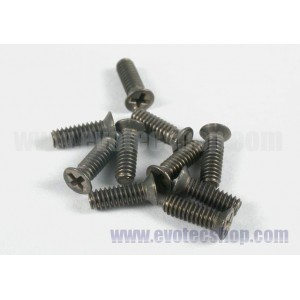 Tornillos conicos chasis IW-Titanio M2x6mm 10 uds