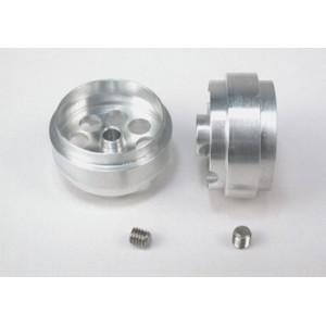 Llanta aluminio 20.5x10mm., eje 3mm. 18 mm ext