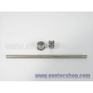 Rodamiento doble pestaña + eje 2,38x55 comp. NSR x