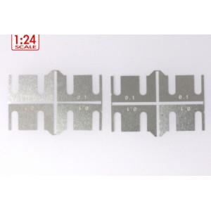 Separadores metalicos altura de ejes 0.1 mm