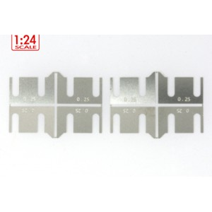 Separadores metalicos altura de ejes 0.25 mm