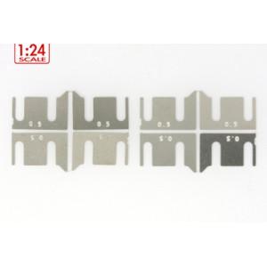 Separadores metalicos altura de ejes 0.5 mm