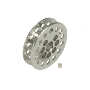 Polea dentada 14 D 1,8 mm eje 3/32 mm Plata