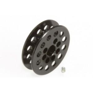Polea dentada 12 D 1,8 mm eje 3 mm Negro