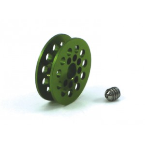 Polea dentada 11 D 1,8 mm eje 3/32 color verde