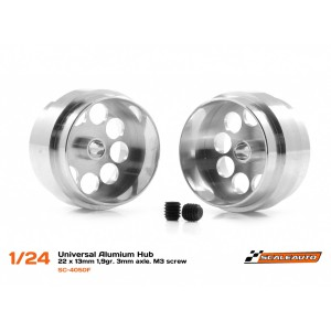 Llanta aluminio 22 x 13 Ext Visible 20 mm eje 3 mm