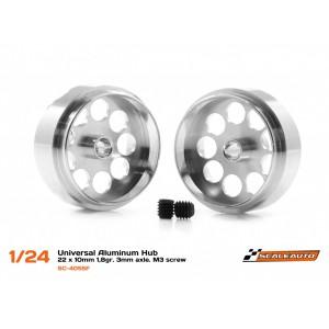 Llanta aluminio 22 x 10 Ext Visible 20 mm eje 3 mm