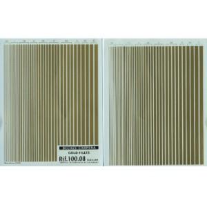 Calcas lineas doradas 0.5 mm - 5 mm