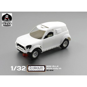 Mini all 4 Raid White Racing Kit Dakar Chassis