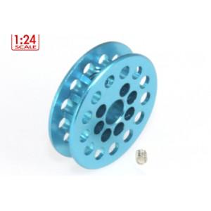 Polea dentada 13D Int 7,85 x 1,8 mm eje 3 mm Azul