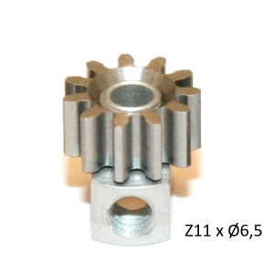 Piñon Extraible  Z11 x 6,5 mm. mod.0.5 Acero