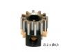 Piñon Extraible  Z12 x 6,5 mm. mod.0.5 Acero