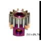 Piñon Extraible  Z13 x 6,7 mm. mod.0.5 Acero