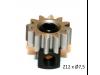 Piñon Extraible  Z12 x 7,5 mm. mod.0.5 Acero