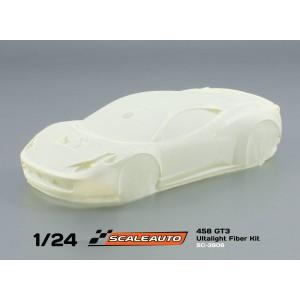 Carrocería 1/24 458 GT3 en fibra ultraligera