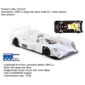 Lola Aston Martin LMP White Racing Kit IN LINE